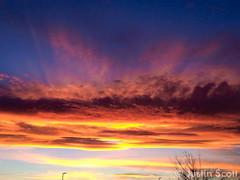 October 23, 2014 - An amazing sunset. (Justin Scott)