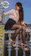 María (Izamfotossss) Tags: portrait cute sexy girl shirt hair book sevilla spain model glamour nikon long place retrato sony flash spanish tacones falda zambrano zambra
