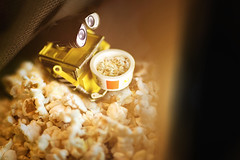 Movie Time (codename: NT) Tags: light dark movie robot scene disney pixar popcorn droid walle