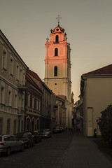 Church of St. John (exterior) - Vilnius, Lithuania (jamesrmccully) Tags: street old sunset sun church st john town exterior baroque setting lithuania vilnius