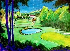 Achasta golf course (_Loaf_) Tags: life usa art animal animals painting design living stuffed acrylic arte farm contemporary kunst country paintings drawings works loaf farmanimals bucolic buttermilk brigade obras studioworks stuffedanimalbrigade buttermilkloaf paintingslidesow