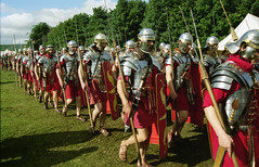 Romans in Britain (mawinter photo) Tags: military soldiers gpx nikonf90x