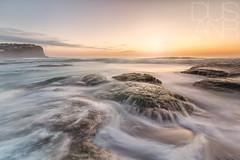 early riser (Dusan R) Tags: sunset seascape clouds sunrise rocks sydney australia textures swell rockpool northernbeaches oceanbath bungan leefilters canon1635 canonmkiii dusanr