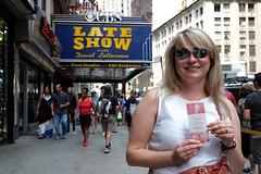 Cecilia & Her Ticket (_Codename_) Tags: nyc newyorkcity newyork marquee lateshow ticket cecilia letterman davidletterman edsullivantheater