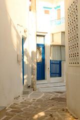 sokaki (Katrinitsa) Tags: street blue light summer white colors canon landscape mediterranean cityscape aegean efs1855mm greece greekislands paros cyclades paroikia sokaki