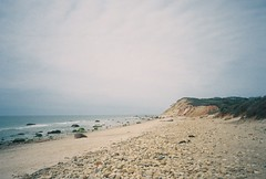 764277T-R1-013-5 (aspininaspiritcar) Tags: ocean sea summer sky film beach field ferry 35mm boat marthas vineyard sand rocks minolta massachusetts atlantic marthasvineyard