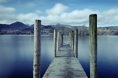Wooden jetty 2 (PentlandPirate of the North) Tags: softspotforfemaleswithbeards wooden jetty derwent water lakedistrict