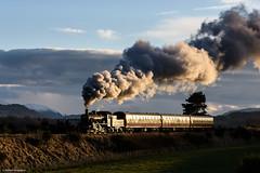 Highland Sunset (Articdriver) Tags: steam railway trains heritage sunset scotland strathspeyrailway aviemore highlands 46512 ivatt