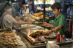 Street Food (Steven Olmstead) Tags: street streetfood flame night kualalumpur malaysia food foodtography