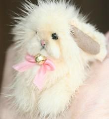 Mink Bunny (kimbearlyoriginal) Tags: mink recycled kimbearlys hare bunny miniature