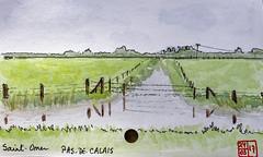 Le Tour de France virtuel - 62 - Pas-de-Calais (chando*) Tags: aquarelle watercolor croquis sketch france