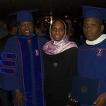 2012 Commencement (Dr. Barro with Dr. Imelda Moise/Geography and Djifa Kothor/M.A. African Studies)