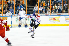 "Missouri Mavericks vs. Allen Americans, March 3, 2017, Silverstein Eye Centers Arena, Independence, Missouri.  Photo: John Howe / Howe Creative Photography • <a style=""font-size:0.8em;"" href=""http://www.flickr.com/photos/134016632@N02/33117916802/"" target=""_blank"">View on Flickr</a>"