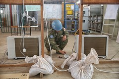 Japanese Engineers teach South Sudanese Engineers how to service and repair Genreators and ACs (UNMISS MEDIA) Tags: un unmiss japan japanese mtc engineers training generators airconditioners juba southsudan