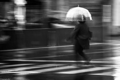 Splash (from our view) Tags: rain raindrops umbrella splash blackandwhite bw blur le nikon d810 tennessee nashville movement wet walk walking contrast street 2017 spring april showers people reflections light