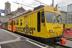 St Gallen - Appenzeller Bahn (Kecko) Tags: 2017 kecko switzerland swiss suisse svizzera schweiz ostschweiz stgallen sg europe bahnhof station ab sga appenzellerbahn bahn zug train railway railroad bdeh4413 triebwagen railcar multipleunit appenzeller swissphoto geotagged geo:lat=47421870 geo:lon=9368270
