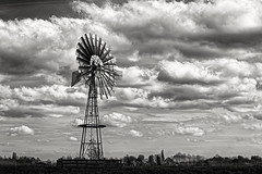 Me Against The Clouds (Alfred Grupstra) Tags: bw blackandwhite clouds landscape windmill oostwoud noordholland nederland nl history cloudsky oldfashioned old sky retrostyled nature cultures antique cloudscape obsolete outdoors nopeople famousplace ruralscene