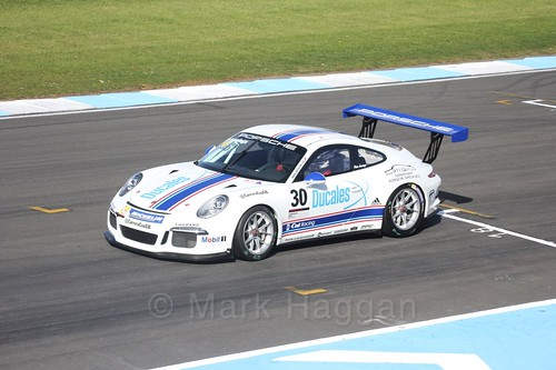 Peter Jennings in the Porsche Carrera Cup Race One during the BTCC Weekend at Donington Park 2017: Saturday, 15th April