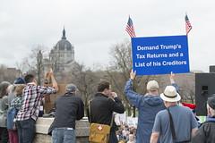Minnesota demands Donald Trump release his tax returns (Fibonacci Blue) Tags: stpaul taxmarchmn taxmarch protest trump rally republican march donaldtrump demonstration gop event twincities minnesota resist crowd people