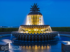 Pineapple Fountain (Jerry Fornarotto) Tags: architectural architecture attraction beautiful charleston city coastal cooperriver cr2017 destination downtown dusk famous flowing fountain illuminated jerryfornarotto landmark landscape lowcountry monument night outdoors park pineapple pineapplefountain sc scenic sculpture sightseeing southcarolina southern sunset tourism tourist travel twilight urban waterfall waterfront waterfrontpark