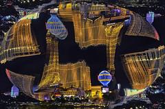 Some Vegas Fun Stuff III (Paul B0udreau) Tags: canada ontario niagara paulboudreauphotography nikon nikond5100 photoshop nevada lasvegas neon lights tourist nighttime layer vegasstrip nikkor1855mm sphere mirror