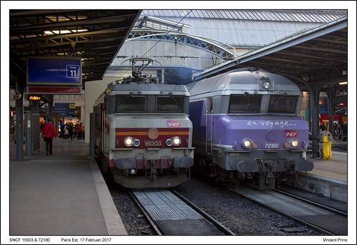 SNCF 15003 & 72180 - Paris Est (17-02-2017)