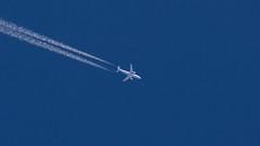 Iran Air A300B4-605R from Frankfurt to Tehran at FL330 (Awesome Zoleeka) Tags: canon eos m contrail iran air islmaic airbus a300 frankfurt germany tehran