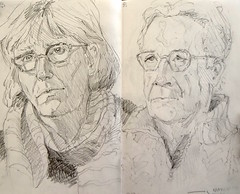 sketchbook portraits - pencil (Nora MacPhail) Tags: portrait portraits pencil draw drawing art sketch sketches sketchbook sketching sketcher daily artist dailypaintworks noramacphail 6bpencil 07 mechanical people faces fun