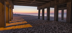 First Light (LanaScape Photos) Tags: sunrise firstlight gulfshores alabama pier fishingpier shadows sand beach gulf