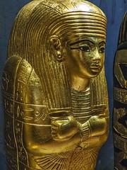 Miniature gilded inner coffin created for King Tutankhamun and Queen Ankhesenamun's newborn baby New Kingdom 18th Dynasty Egypt 1332-1323 BCE (mharrsch) Tags: gold pharaoh king ruler coffin newborn tutankhamun burial tomb funerary 18thdynasty newkingdom egypt 14thcenturybce ancient discoveryofkingtut exhibit new york mharrsch premier exhibits miniature gilded