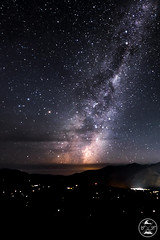Torch_Over_Queenstown (Christoph Lindemann) Tags: queenstown night nightshot milkyway milky way star stars mountains wakatipu lake coronetpeak coronet peak newzealand new zealand milchstrase nachtaufnahme longexposure langzetbelichtung arrowtown