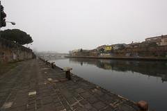 Ponte di Tiberio e Borgo San Giuliano (monia69) Tags: rimini ponte tiberio borgo canon eos 660d marecchia fog mist nebbia reflection riflesso fiume river wideangle
