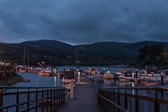 Killaloe Mooring 11-04-2017 (John Holmes (DAJH51)) Tags: coclare killaloe lights loughderg night nikond750 sigma24105art boats dusk hills ireland moorings river rivershannon