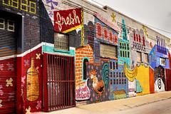Fresh Produce (DJ Wolfman) Tags: detroit detroitmichigan detroitmi art stores produce easternmarket michigan michiganfavorites mural red yeloow blue sony rx10
