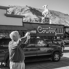 Jackson Wyoming, 2016 . #leicacamera #leicam #scottosmith #streetphotography #35mm (Scott O. Smith) Tags: square leica m summicron 35mm black white wyoming jacksonholewyoming streetphotography street