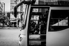 I am bus driver | Bangkok 2016 (Johnragai-Moment Catcher) Tags: people photography street streetphotography blackwhite blackandwhite bangkokstreet johnragai johnragaiphotos johnragaistreet johnragaibw