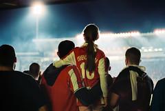 (Nothing is surrender) Tags: football foot stadium beograd derby derbi crvenazvezda red partizan girl supporter fan serbia srbija nikonf90 nikon f90 redstar