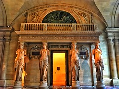 Paris  France ~ Louvre Museum ~ Historic Monument (Onasill ~ Bill Badzo) Tags: the musée du louvre museum french largest world onasill historic site travel mustsee tourist monument paris france landmark caryatids female statue mural capitol city palace fortress philip i frenchkings francis historicmonument historical architecture
