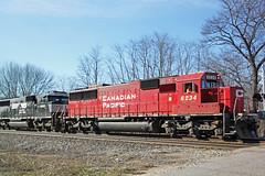 CP 6234 about to cross Boeck Road (AndyWS formerly_WisconsinSkies) Tags: train railroad railway railfan canadianpacificrailway canadianpacific cprail cp emd sd60 emdsd60 locomotive