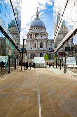 St Pauls Cathedral Framed (iankent1963) Tags: framed stpaulscathedral london reflections city capital cityscape nikond5100 tamron church dome flickr explore shops tourists travel