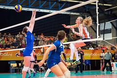 2017-04-08 EK U18 Ned - Slo (31a) (Peter Donderwinkel) Tags: ekmeisjesu18 nederland teamholland slovenië valkenhuizenarnhem papendal volleybal volleyball sportphotography teamsport indoor ek canon nevobo volleybalnl oranje