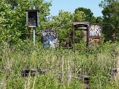 rv58 (daily observer) Tags: philadelphia readingviaduct abandonedrailroad abandonedphiladelphia overgrown graffiti philadelphiagraffiti