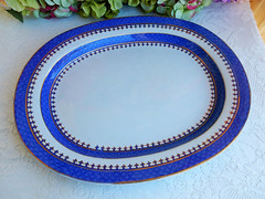 Antique Early 19c Spode New Stone Serving Platter ~ Cobalt Gold (Donna's Collectables) Tags: antique early 19c spode new stone serving platter ~ cobalt gold