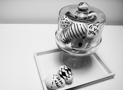 Happy Easter 2017 ~ Frohe Ostern (xtrahotbandito) Tags: ostern eastern egg crazy nice bw black wh white