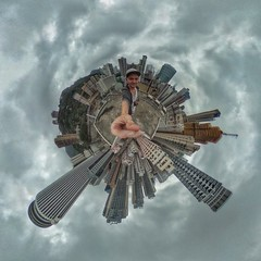 Hong Kong's roof (Alexandr Tikki) Tags: roof hongkong amazing view sky tinyplanet planet man selfie top best art awesome alexandrtikki travel leveltravel