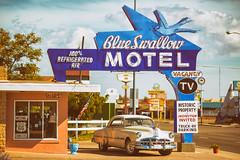 Blue Swallow Motel (Thomas Hawk) Tags: america blueswallowmotel newmexico pontiac pontiaceight route66 tucumcari usa unitedstates unitedstatesofamerica motel neon us fav10 fav25 fav50 fav100
