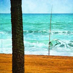 Gone Fishin' (sbox) Tags: malaga spain fishing beach sand waves water summer textures painterly art illustration declanod sbox blue mediterranean españa