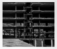 Maputo, Mozambique. (tonywright617) Tags: building maputo mozambique africa fujica g617 panoramic ilford hp5 iso400 mediumformat bw film analogue cropped