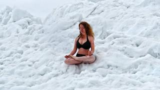 Io / Ik  / I, practicing the Wim Hof Method :-) - Laghetti di Taneda (2305m) - Ticino - Svizzera
