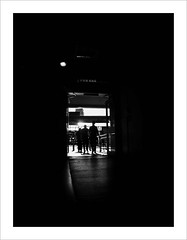 outbound (Howard Sandford) Tags: newhope endofthetunnel brightlight shadow silhouette fireexit